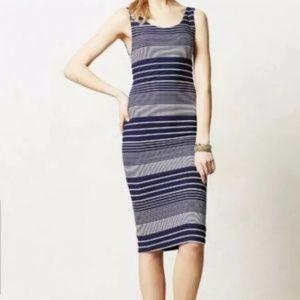 Maeve Casual bodycon blue dress